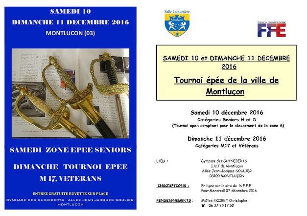 Tournoi épée de la ville de Montluçon